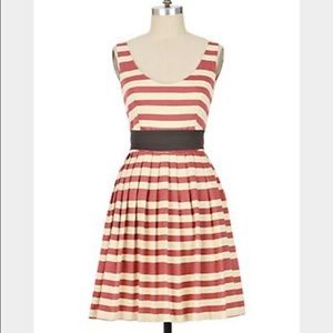 Anthropologie Caranday Dress in Red Stripe